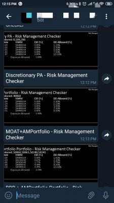 Risk Management Assistant Telegram notifications